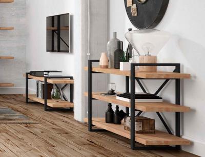 Consola roble plank 3 estantes