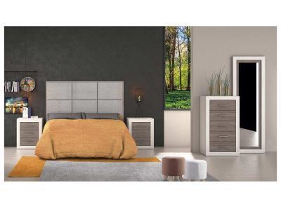 Dormitorio matrimonio anderser pino gris 50