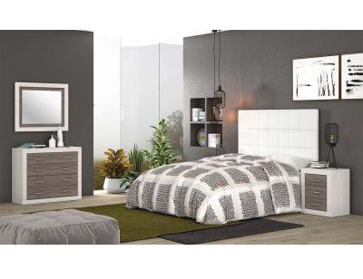 Dormitorio matrimonio anderser pino gris