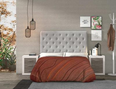 Dormitorio matrimonio gris