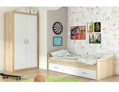 Dormitorio juvenil cambria blanco 63