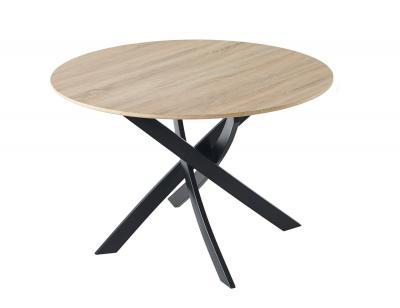 Mesa comedor fija  redonda zen roble negro