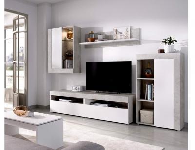 Mueble salon  con vitrina  y leds k5124843 tokio