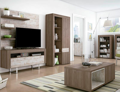 Mueble salon comedor estilo moderno color natural nature 021