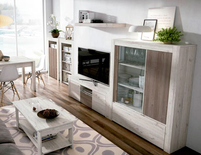Mueble salon comedor estilo moderno color natural nature 03