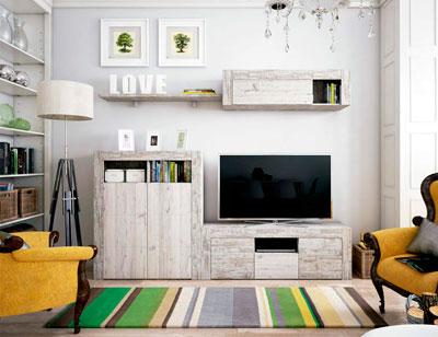 Mueble salon comedor estilo moderno color natural nature 04
