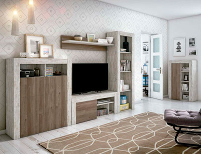 Mueble salon comedor estilo moderno color natural nature 11