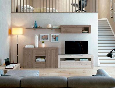 Mueble salon comedor estilo moderno color natural nature 14b