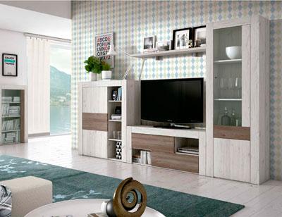 Mueble salon comedor estilo moderno color natural nature 16