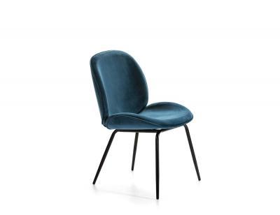 Silla azul  negra tapizada dc 531