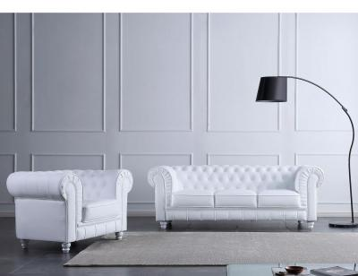 Sofa chester 3p blanco