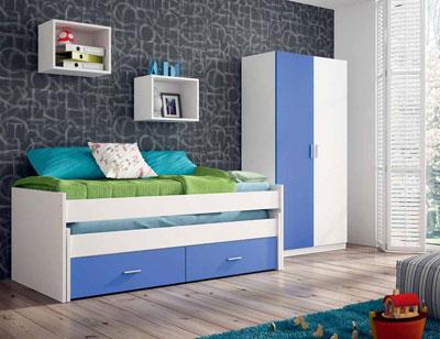 Ambiente05 dormitorio juvenil cama nido ruedas blanco azul