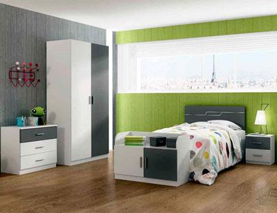 Ambiente10 dormitorio juvenil armario blanco grafito