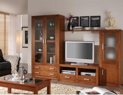 Ambiente7 mueble salon comedor bodeguero vitrina tv  mesa centro nogal