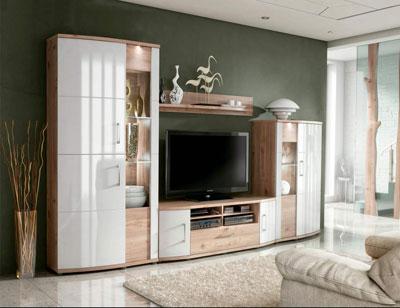 Ambiente7 mueble salon comedor vitrina bodeguero bajo tv alto nelson blanco
