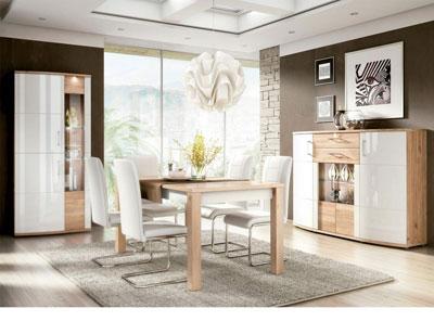 Ambiente9 mueble salon comedor vitrina bodeguero mesa sillas tapizadas aparador nelson blanco2
