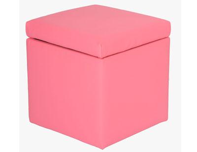 Arcon tapizado puff 40 rosa cerrado