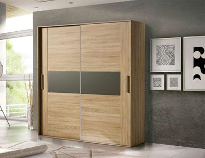 Armario 2 puertas correderas moderno cambrian grafito