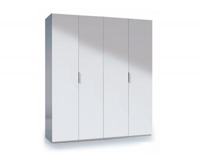 Armario 4 puertas mueble barato blanco2