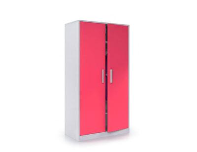 Armario juvenil 2 puertas rojo