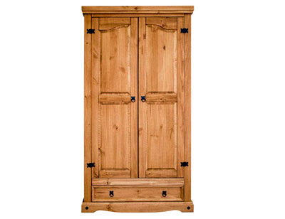Armario madera rustico 2 puertas 1 cajon 102 cm