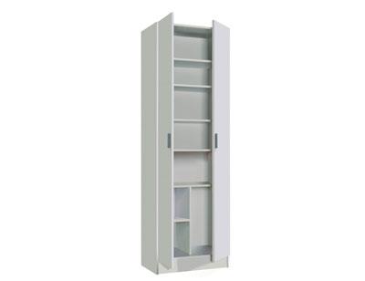 Armario multiusos multi estantes blanco 2 puertas