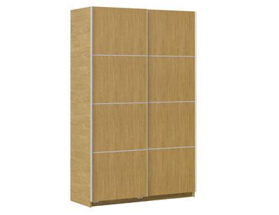 Armario puertas correderas blanco 180 cm de ancho factory del mueble utrera - Puerta corredera 120 cm ...