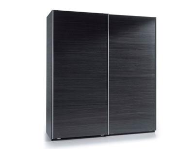 Armario puertas correderas gris ceniza 180 cm