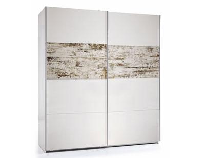 Armario puertas correderas vintage blanco 180 cm