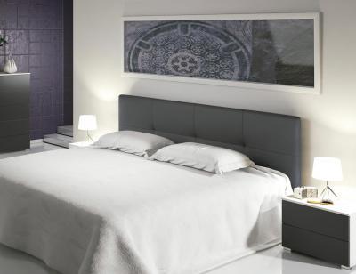 Cabecero tapizado en polipiel color blanco roto 23202 - Cabeceros tapizados de diseno ...