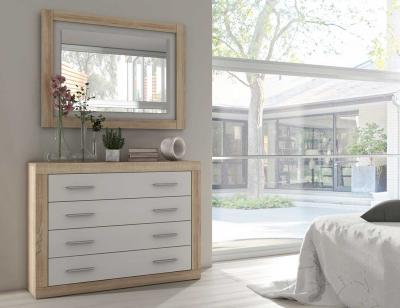 Comoda dormitorio matrimonio moderno cambrian blanco