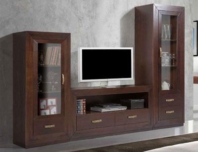 Composicion 09 mueble salon comedor vitrina
