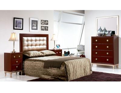 Composicion 10 dormitorio matrimonio comoda cabecero tapizado2