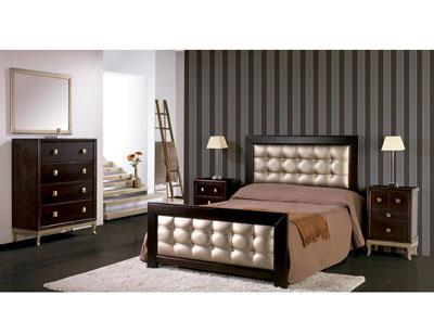 Composicion08 dormitorio matrimonio cama burdeos tapizada2