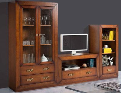 Composicion08 mueble salon comedor vitrina librero