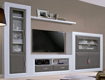 Composicion2 300cm mueble salon comedor vitrina