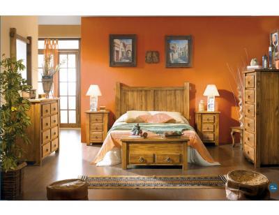 Composicion2 dormitorio matrimonio cabecero acapulco comoda madera