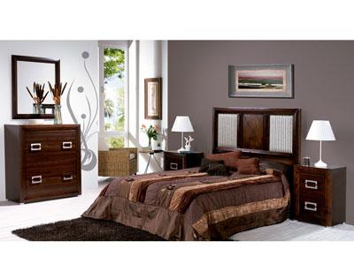 Composicion25 dormitorio matrimonio comoda madera
