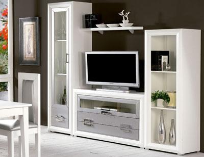 Composicion32 mueble salon comedor vitrina estanteria madera