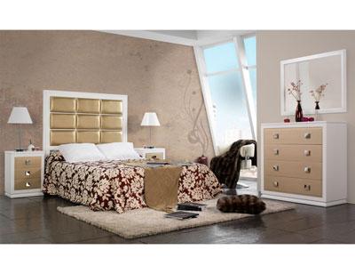 Composicion42 dormitorio matrimonio comoda cabecero tapizado1