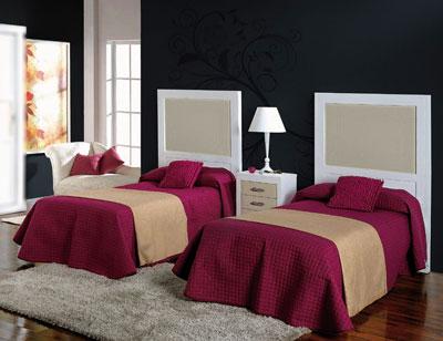 Composicion50 dormitorio armario madera cabecero 90