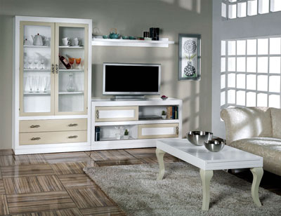 Composicion53 mueble salon comedor madera vitrina mesa centro