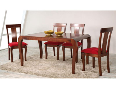 Composicion60 mesa extensible cerrada madera