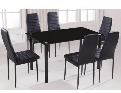 Conjunto mesa sillas negra