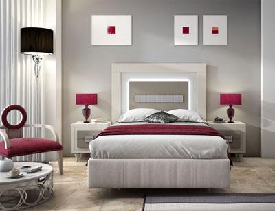 Dorm04 dormitorio matrimonio neoclasico caramelo cubos moka patas