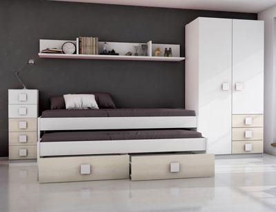 Dormitorio juvenil akazie blanco