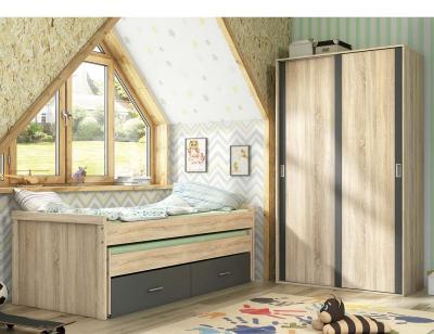 Dormitorio juvenil cambria grafito 66