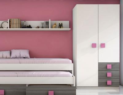 Dormitorio juvenil ceniza rosa4