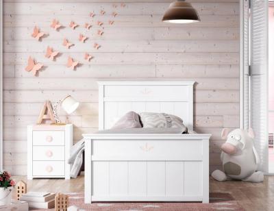 Dormitorio juvenil en madera blanco 22