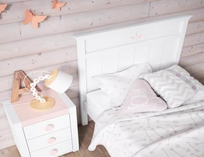 Dormitorio juvenil en madera blanco1